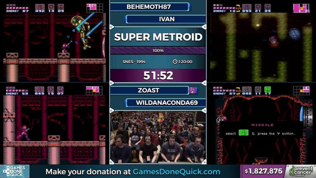 AGDQ gameplay