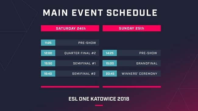 Katowice schedule